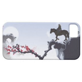 The Lone Rider Cold - Winter Mountain Peaks iPhone SE/5/5s Case