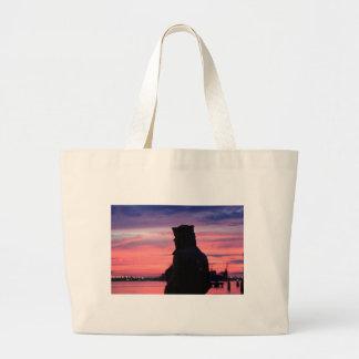 The Lone Sailor Large Tote Bag