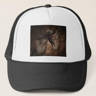 The lone stallion trucker hat
