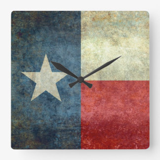"""The """"Lone Star Flag"""" of Texas Square Wall Clock"""