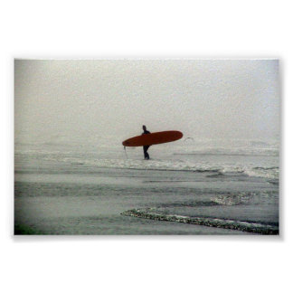 The lone surfer Posters
