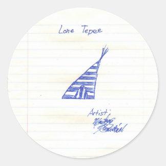 the Lone Tepee Classic Round Sticker