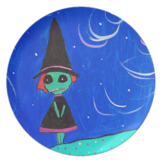 The Lone Witch Dinner Plate