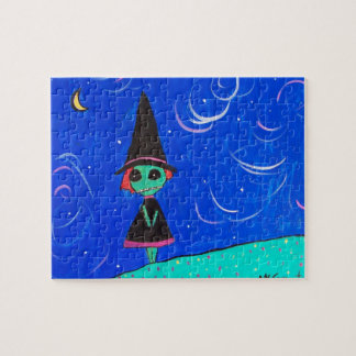 The Lone Witch Jigsaw Puzzle