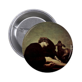The Loneliness At Dawn By Füssli Johann Heinrich ( Pinback Buttons