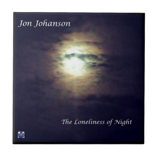 The Loneliness of Night Small Square Tile