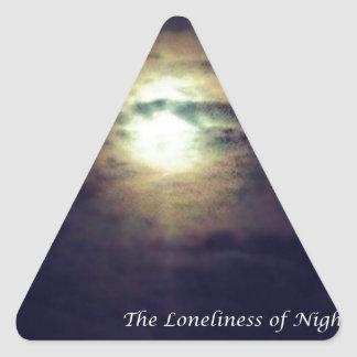 The Loneliness of Night Triangle Sticker