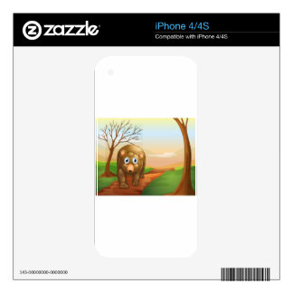 The lonely bear walking iPhone 4S skins