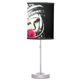 'the lonely cosmonaut' on a table lamp