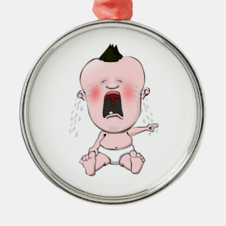 The Lonely Finger Pointing Cry Baby Metal Ornament