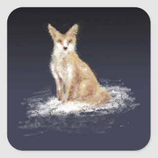 The Lonely Fox Square Sticker