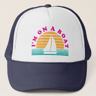 The Lonely Island On A Boat Trucker Hat