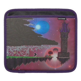 The Lonely Tower with Poem by greyeyesgabriel iPad Sleeve