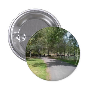 The Lonely Walkway 1 Inch Round Button