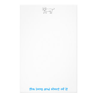 The Long and Short Of It Doxie Stationery