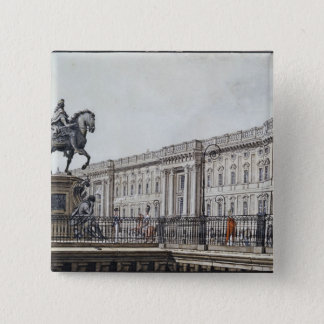 The long bridge with an aristocratic monument pinback button