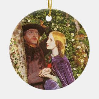 The Long Engagement, Arthur Hughes, Victorian Art Ceramic Ornament
