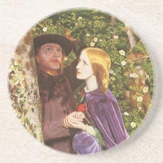 The Long Engagement, Arthur Hughes, Victorian Art Coaster