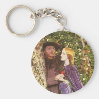 The Long Engagement, Arthur Hughes, Victorian Art Keychain