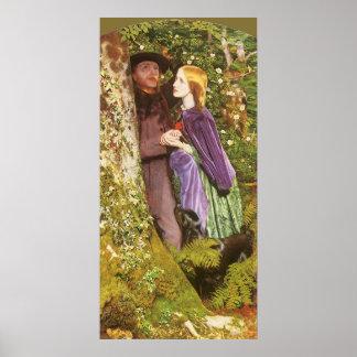 The Long Engagement, Arthur Hughes, Victorian Art Poster