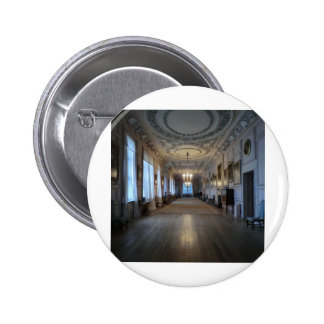 The Long Gallery at Sudbury Hall, Derbyshire Pinback Button