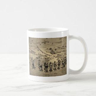 The Long Line From Omaha Beach Coffee Mug