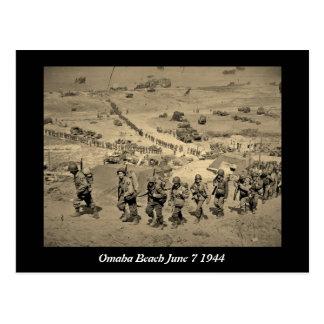 The Long Line From Omaha Beach Postcard