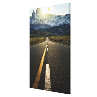 The Long Road To Fitzroy Mountain - Ruta 40 Canvas Print