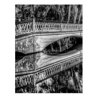 The Long White Bridge (b&w).jpg Postcard