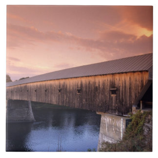 The longest covered bridge in the United States Ceramic Tile