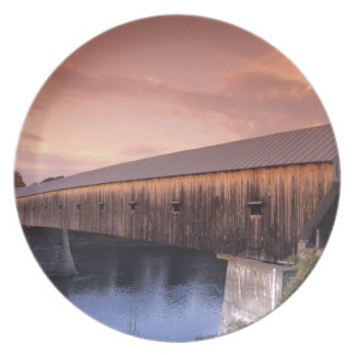The longest covered bridge in the United States Party Plate