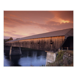 The longest covered bridge in the United States Poster