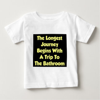 The Longest Journey Begins With A Trip To The Bath Tee Shirt