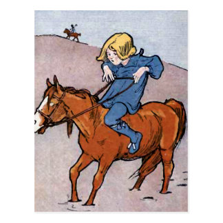 """The Longest Way Round......."" Vintage Postcard"