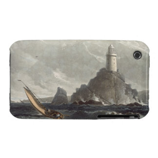 The longships lighthouse of Lands End, Cornwall, f iPhone 3 Cover