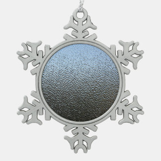 The Look of Architectural Textured Glass Snowflake Pewter Christmas Ornament