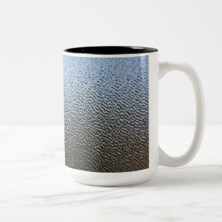 The Look of Architectural Textured Glass Two-Tone Coffee Mug