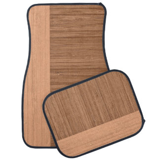The Look of  Bamboo Border Wood Grain in Almond Car Floor Mat
