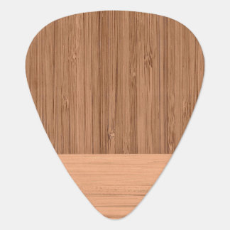 The Look of  Bamboo Border Wood Grain in Almond Guitar Pick