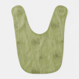 The Look of Bamboo in Olive Moss Green Wood Grain Baby Bib