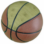 The Look of Bamboo in Olive Moss Green Wood Grain Basketball