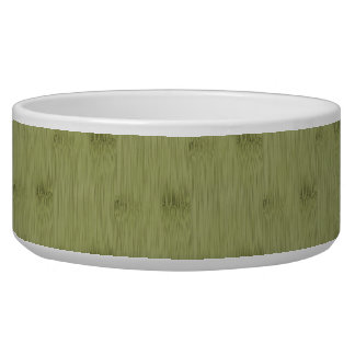 The Look of Bamboo in Olive Moss Green Wood Grain Bowl