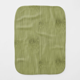 The Look of Bamboo in Olive Moss Green Wood Grain Burp Cloth