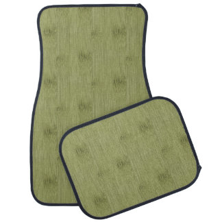 The Look of Bamboo in Olive Moss Green Wood Grain Car Mat
