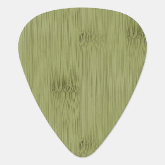 The Look of Bamboo in Olive Moss Green Wood Grain Guitar Pick