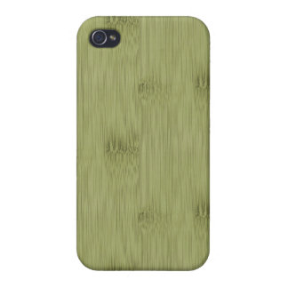 The Look of Bamboo in Olive Moss Green Wood Grain iPhone 4/4S Cover