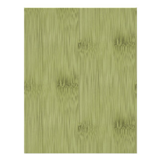 The Look of Bamboo in Olive Moss Green Wood Grain Letterhead