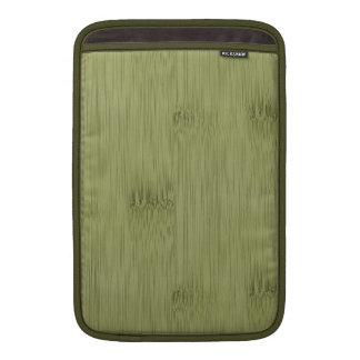 The Look of Bamboo in Olive Moss Green Wood Grain MacBook Air Sleeve