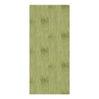 The Look of Bamboo in Olive Moss Green Wood Grain Rack Card