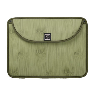 The Look of Bamboo in Olive Moss Green Wood Grain Sleeve For MacBook Pro